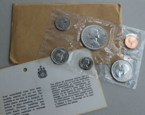 1963 Canada Proof Like 6 Coin Canadian Set 1c 5c 10c 25c 50c $1 Coins Cello  K2