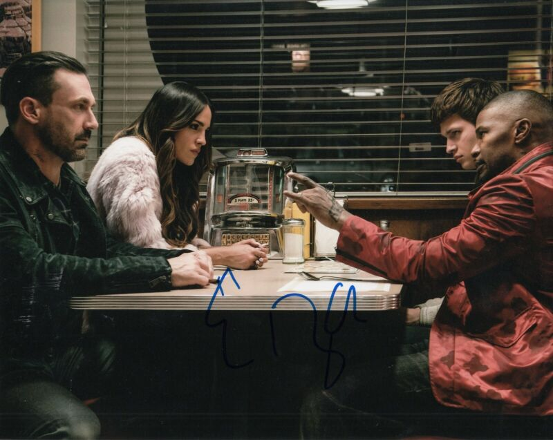 EIZA GONZALEZ signed (BABY DRIVER) MOVIE 8X10 photo *Darling* Proof W/COA #4