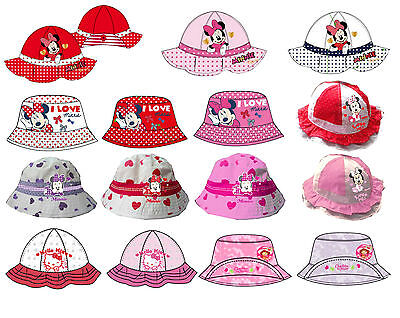 Hello Kitty Minnie Emily Erdbeer Mütze Hut Sommer Sommerhut Cape Gr. 80-128 NEU