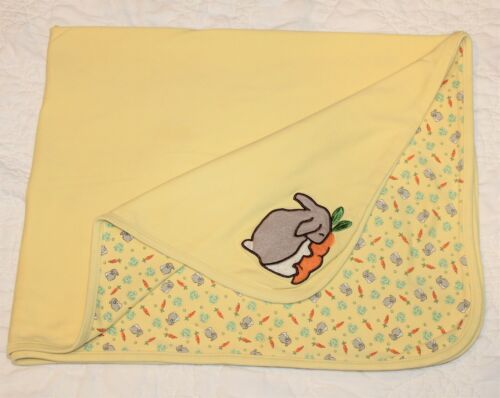 VINTAGE 2000 GYMBOREE Bunny Rabbit BLANKET lovey yellow RARE
