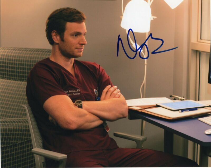 Nick Gehlfuss signed 8x10 Photo w/COA Chicago Fire Med P.D. Will Halstead