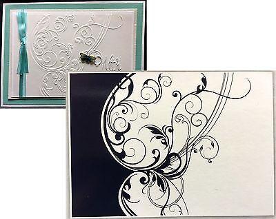 CGULL Embossing Folders FLORAL LEAF SWIRL folder 12-0018 All Occasion Wedding