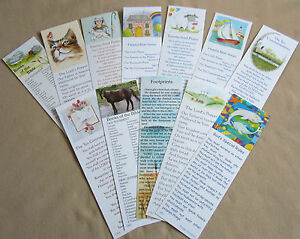 12 Different Bookmarks with Christian Wording