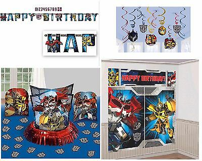 Transformers Birthday Banner (NEW Transformers Birthday Pack (Banner, Wall Poster, Swirls & Table Decor)