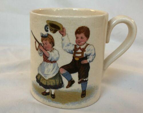 Victorian Children's Cup Mug Early 1900s Mettlach Villeroy & Boch Mark Germany