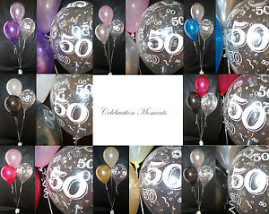 Happy-50th-Birthday-Party-Helium-Balloon-Decoration-DIY-Clusters-Kit-10-tables
