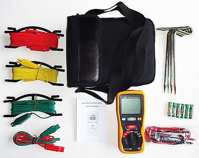 Dt-5300 Digital Earth Ground Resistance Tester Ohm Dc Ac Volt Meter New W Case