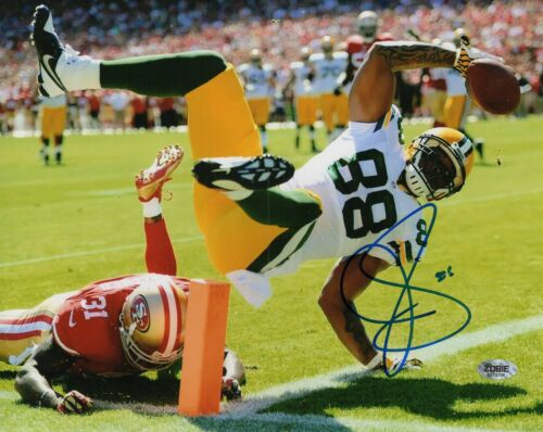 Jermichael Finley Autograph Signed 8x10 Photo - Green Bay Packers (Zobie COA)