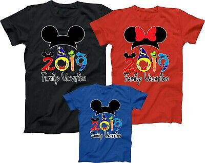 Mickey Minnie Disney Family vacation 2019 Best T shirts Trip Match Tees Castle