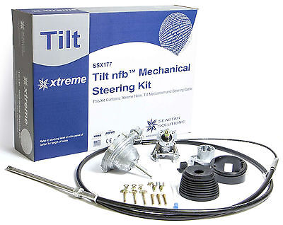 SeaStar Solutions SSX177 13ft. Xtreme Tilt No Feedback Steering Kit