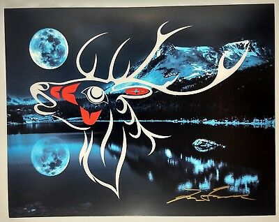 Reindeer Spirit Lon French Signed Print Haida Northwest Coast Native Art for sale  Surrey