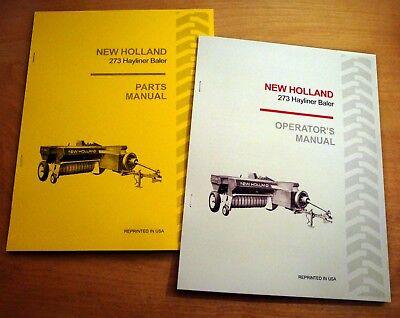 New Holland 273 Hayliner Baler Operators And Parts Manual Catalog Book Nh