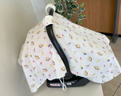 Multifuntional Muslin Baby Car Seat Cover and Nursing Cover CLEARANCE🔥🔥🔥🔥