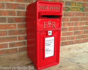 Cast Iron ER Royal Mail Pillar Red Post Box Letter Mail Box Post Office ARPB