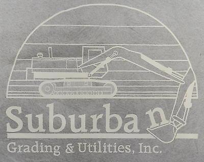 Suburban Grading Utilities Heavy Equipment Screen Print Transfer Wall Craft