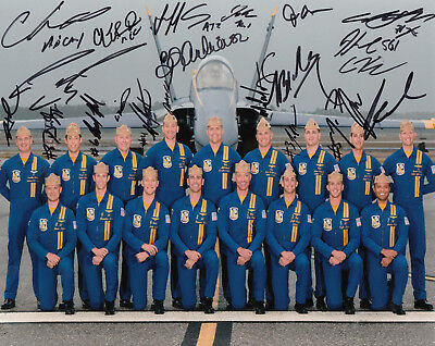 Blue Angels 2018 COMBO COA SIGNED RARE 8x10 PHOTO PROOF AUTOGRAPHED Navy