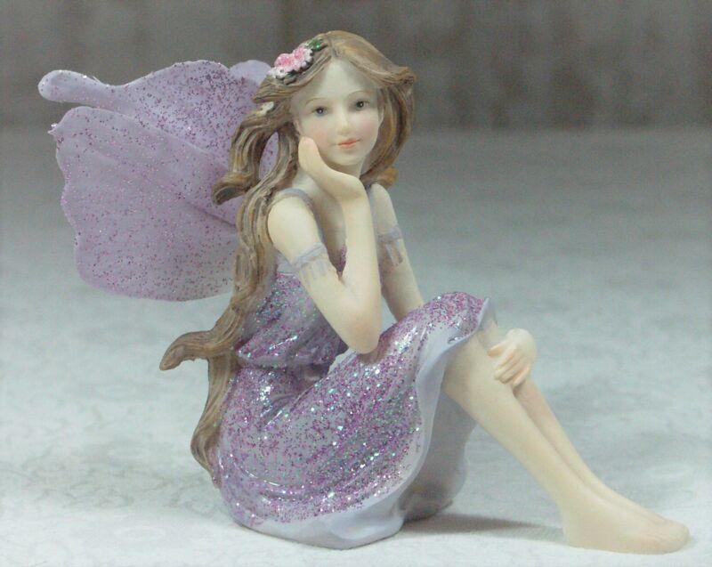 Beautiful Lilac Purple Fairy Silk Wings & Glitter 9cm FAIGLIS BNIB **LAST ONE**
