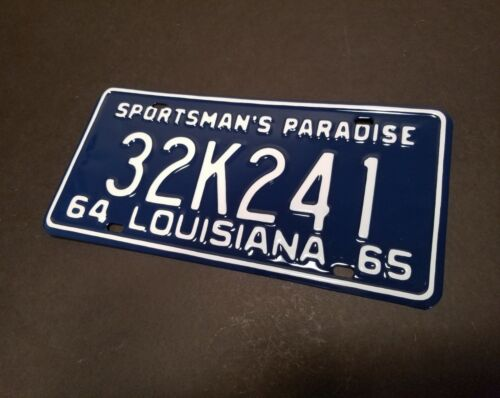 Louisiana License Plate RESTORATION SERVICE 1915 1920 1931 1941 1956 1966 1967