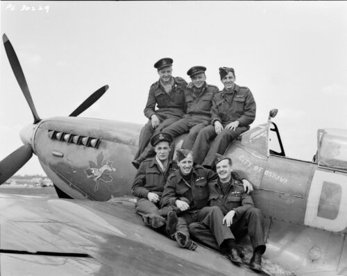 WW2 WWII Photo Royal Canadian Air Force  Spitfire Pilots World War Two / 5401