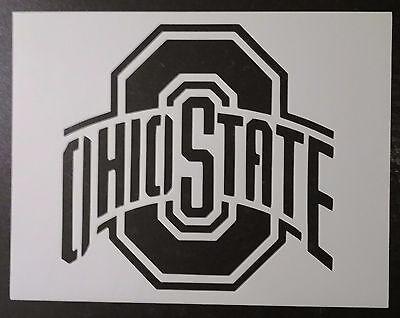 "Ohio State Buckeyes 11"" x 8.5"" Custom Stencil FAST FREE SHIPPING"