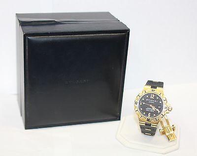 Men's BVLGARI 18K 750 Gold  SD 40 G Diagono Professional Watch, Rubber Band