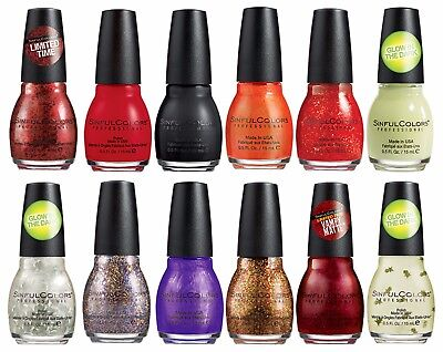SINFUL COLORS Nail Polish NIGHT OF THE LIVING RED Ltd Ed HALLOWEEN *YOU CHOOSE* - Halloween Nail Polish