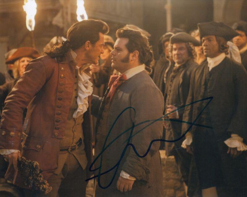 LUKE EVANS signed (BEAUTY AND THE BEAST) Movie 8X10 photo *GASTON* W/COA #3
