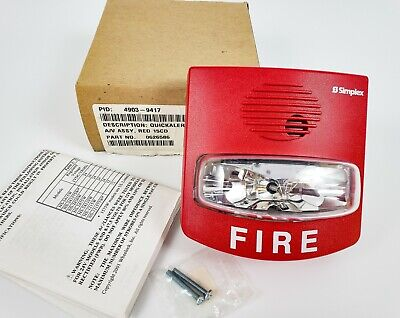 Simplex 4903-9417 Horn Strobe Quickalert Av Assy Red 15cd - New