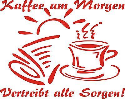 Wandtattoo-Esseckenaufkleber-Küchenaufkleber Kaffee am Morgen.. mit Grafik TOP
