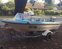 12ft boat, 2 motors + trailer Kambah Tuggeranong Preview