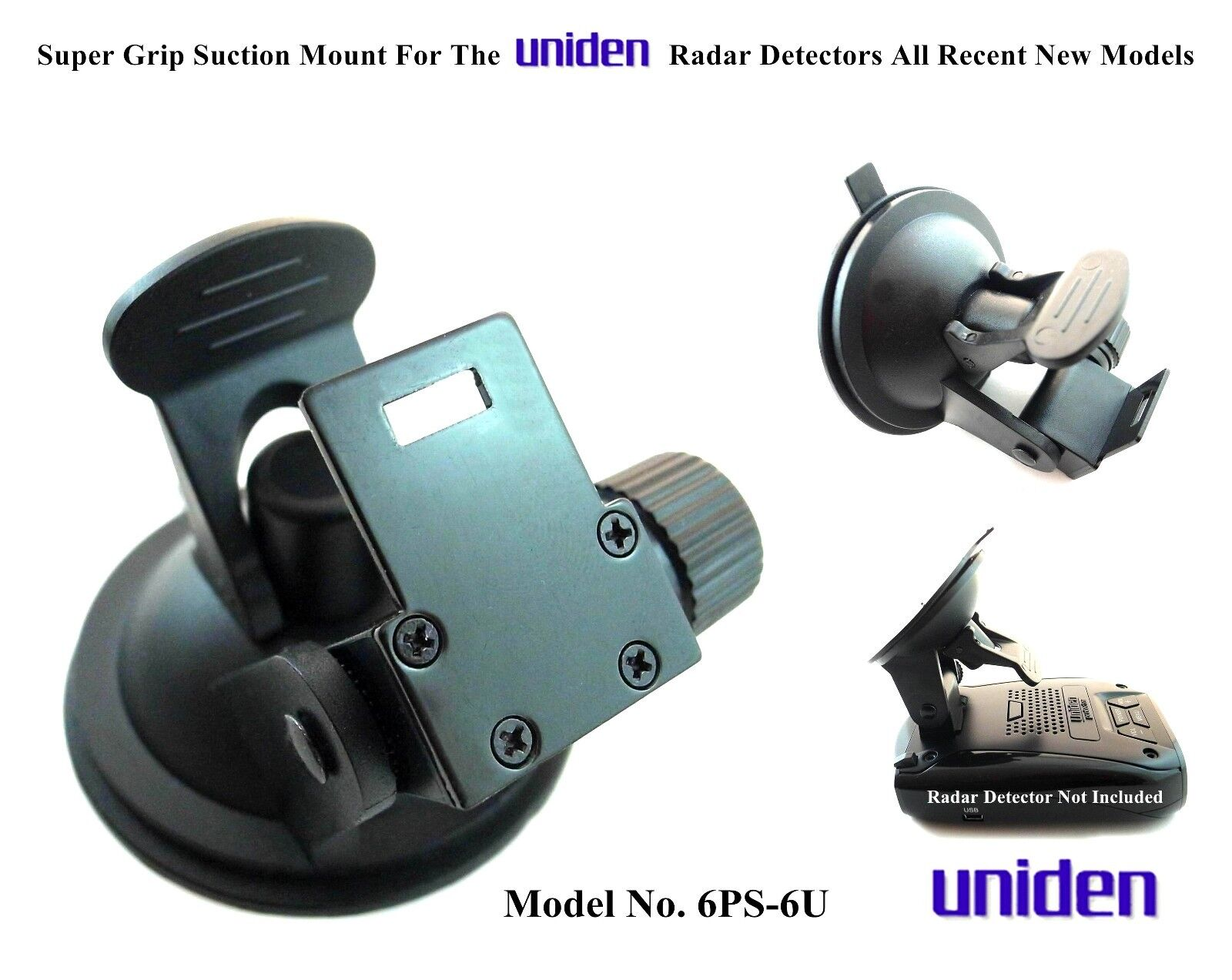 Nice Super Grip Suction CUP For The Uniden Radar Detectors ALL Recent Model