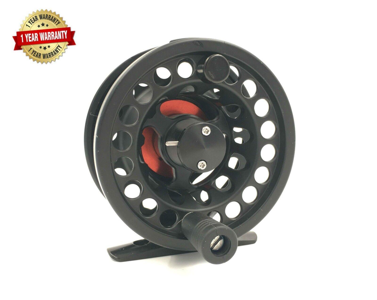 Rudder Light weight Fly Reel Fishing Reels  3/4 Black Red 1