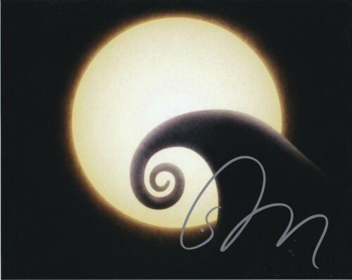 Tim Burton The Nightmare Before Christmas Autographed 8x10 Photograph Rp