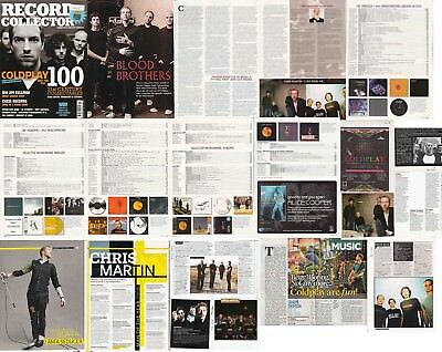 COLDPLAY : CUTTINGS COLLECTION -interview- clippings