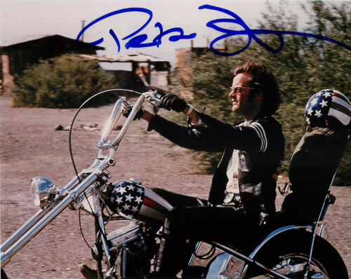 Peter Fonda Signed EASY RIDER 8x10 Photo EXACT Proof COA D