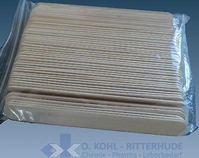 Holzmundspatel, Spatel, abgerundet, 150 x 17 mm, VE 100 Stück, unsteril