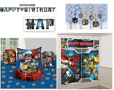 Transformers Birthday Pack Combo Decorations Wall Banner Swirls](Transformers Party Decorations)