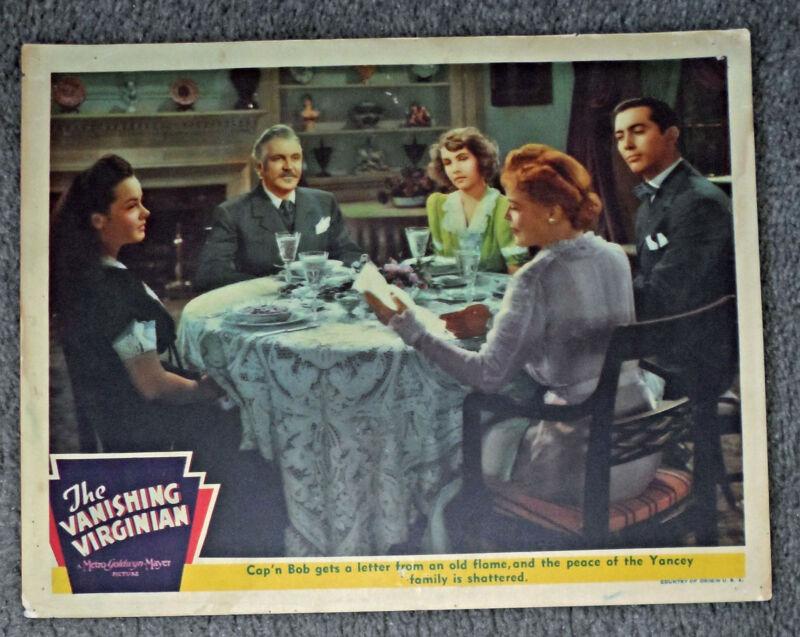 THE VANISHING VIRGINIAN orig 1942 MGM lobby card KATHRYN GRAYSON/FRANK MORGAN