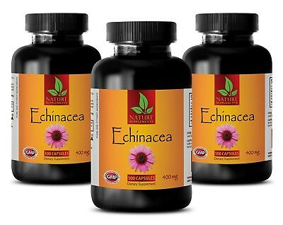 Echinacea Angustifolia Root Extract Pills 400mg - Health Hair - 3 Bottles Echinacea Angustifolia Root Extract