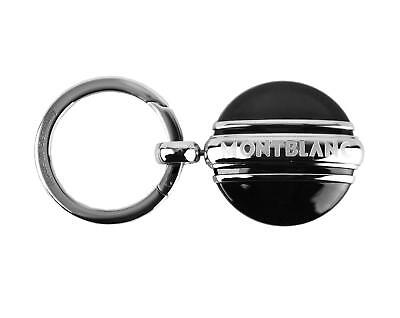 MONTBLANC MEISTERSTUCK PLATINUM PLTD & ONYX KEY RING BLACK 102983 NEW GERMANY - Mont Blanc Platinum Key Ring