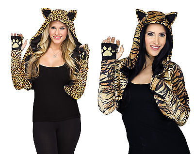 Cheetah Tiger Shrug Adult Costume Accessory