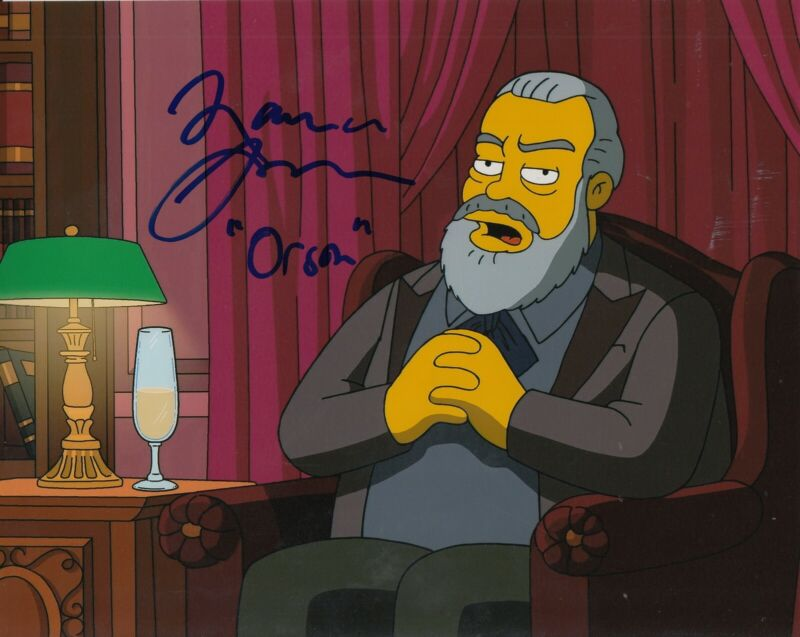 MAURICE LAMARCHE signed (THE SIMPSONS) 8X10 photo *ORSON WELLES* W/COA #2
