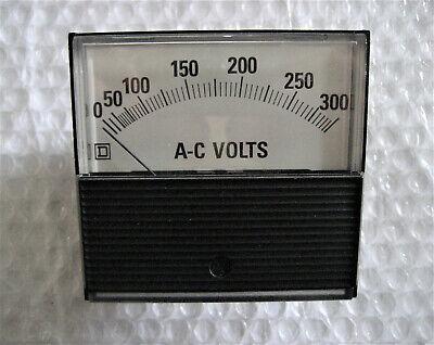 1 X Nos Square D Vintage Panel Meter -- 0-300 Ac Volts - Pn Cle8