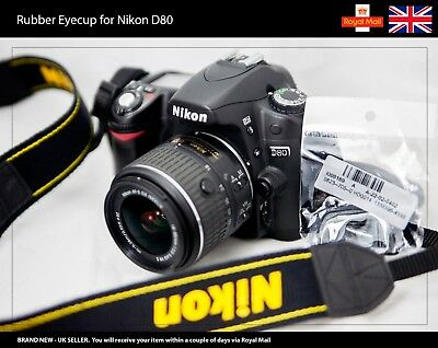 Rubber Eyecup / Eye Cup / Eyepiece / Viewfinder for NIKON D80 Camera