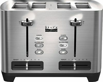 Bella - Pro Series 4-Slice Wide/Self-Centering-Slot Toaster