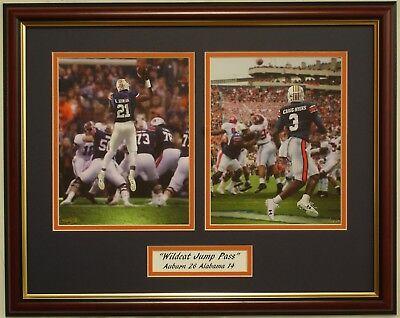 AUBURN Tigers vs Alabama 2017 Iron Bowl Kerryon Johnson Jump Pass framed print (Auburn Tigers Prints)