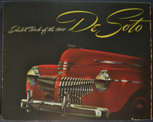 1941 DeSoto Brochure Town Sedan Convertible Club Coupe Nice Original 41
