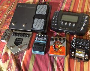 Lot  de pedales d effets, guitar/ bass