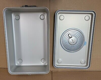 Case Medical Steritite Solid Sterilization Container With Lid 18.1 X11 X6 Sc06q