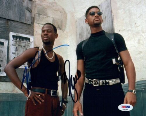 Will Smith & Martin Lawrence Signed Autographed 8x10 Photo BAD BOYS PSA/DNA COA